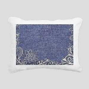 swirls western country b Rectangular Canvas Pillow