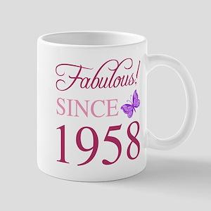 1958 Fabulous Birthday Mugs