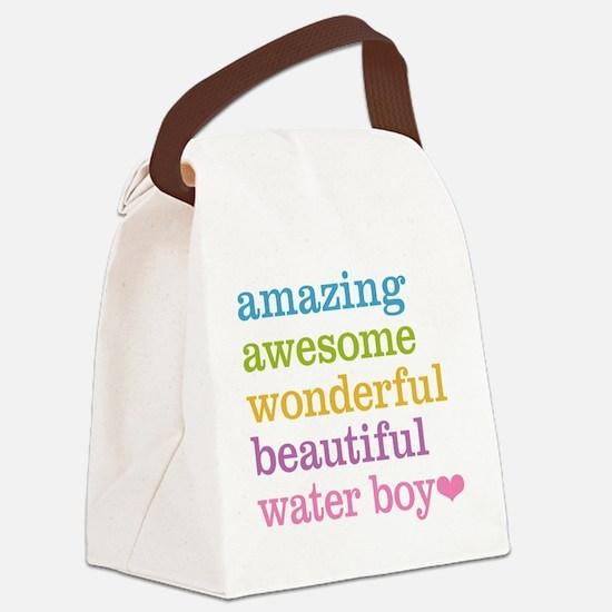Amazing Water Boy Canvas Lunch Bag