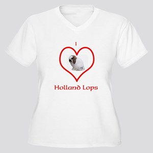 I heart Holland Lops Plus Size T-Shirt