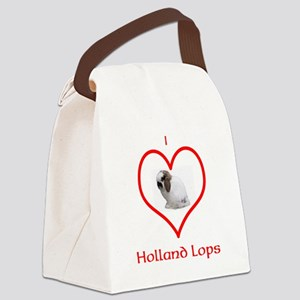 I heart Holland Lops Canvas Lunch Bag