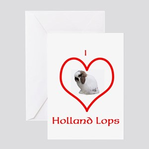 I heart Holland Lops Greeting Cards