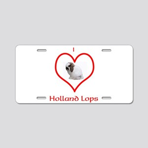 I heart Holland Lops Aluminum License Plate