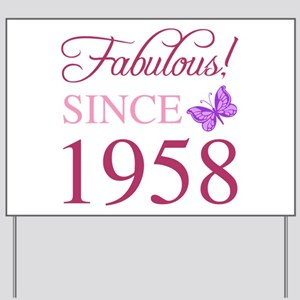 1958 Fabulous Birthday Yard Sign
