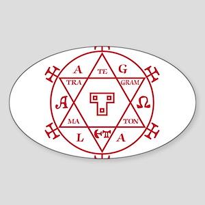 Hexagram of Solomon Oval Sticker