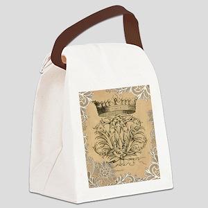 flourish swirls paris vintage cro Canvas Lunch Bag