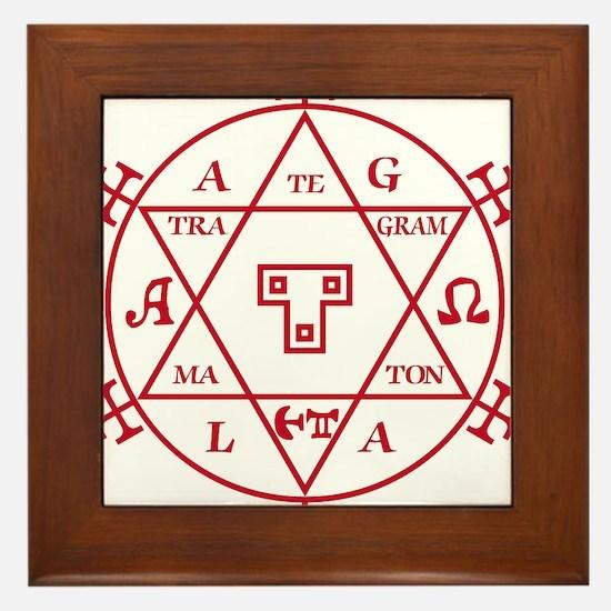 Hexagram of Solomon Framed Tile