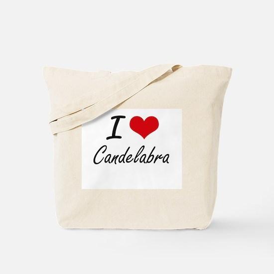 I love Candelabra Artistic Design Tote Bag
