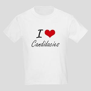 I love Candidacies Artistic Design T-Shirt