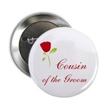 Red Groom's Cousin Button