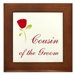 Red Groom's Cousin Framed Tile