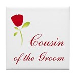 Red Groom's Cousin Tile Coaster