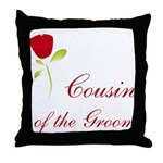 Red Groom's Cousin Throw Pillow