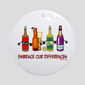 Embrace Our Differences Ornament (Round)
