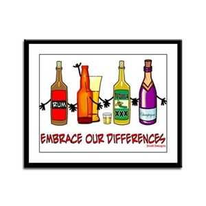 Embrace Our Differences Framed Panel Print