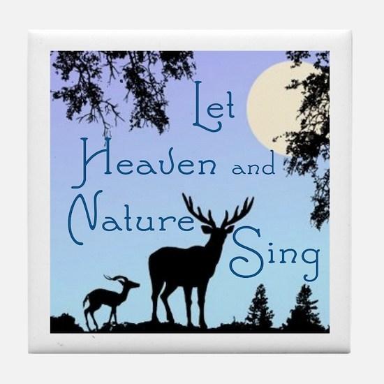 CHRISTMAS - LFET HEAVEN AND NATURE SI Tile Coaster