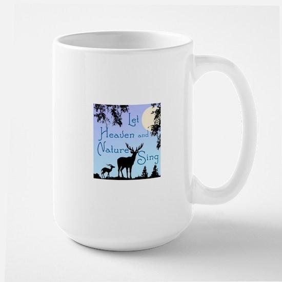 CHRISTMAS - LFET HEAVEN AND NATURE SING Large Mug