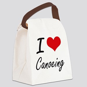 I love Canoeing Artistic Design Canvas Lunch Bag