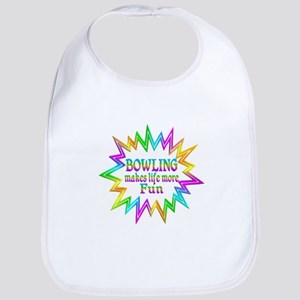 Bowling Makes Life More Fun Baby Bib
