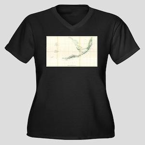 Vintage Map of The Florida Keys Plus Size T-Shirt
