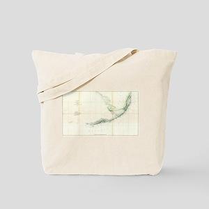 Vintage Map of The Florida Keys (1859) Tote Bag