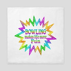 Bowling Makes Life More Fun Queen Duvet