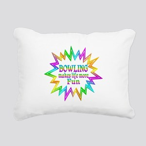 Bowling Makes Life More Rectangular Canvas Pillow