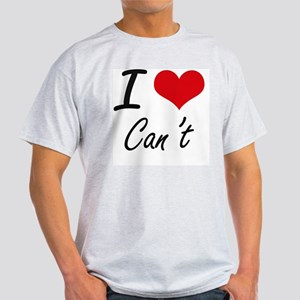 I love Can't Artistic Design T-Shirt