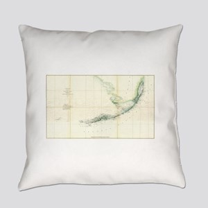 Vintage Map of The Florida Keys (1 Everyday Pillow