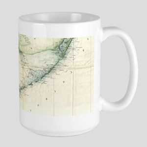 Vintage Map of The Florida Keys (1859) Mugs