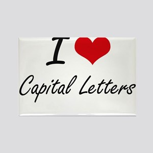 I love Capital Letters Artistic Design Magnets