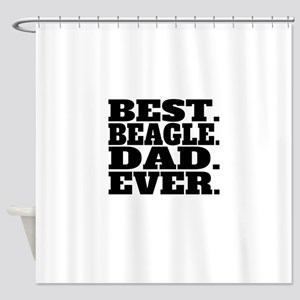 Best Beagle Dad Ever Shower Curtain