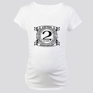 2nd cotton Wedding anniversary Maternity T-Shirt
