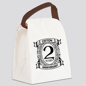 2nd cotton Wedding anniversary Canvas Lunch Bag