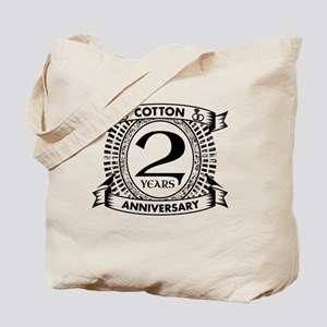 2nd cotton Wedding anniversary Tote Bag