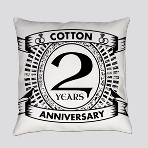 2nd cotton Wedding anniversary Everyday Pillow