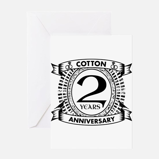2nd cotton Wedding anniversary Greeting Cards