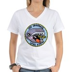 USS GRAYBACK Women's V-Neck T-Shirt