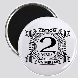 2nd cotton Wedding anniversary Magnets