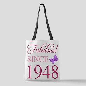 1948 Fabulous Birthday Polyester Tote Bag