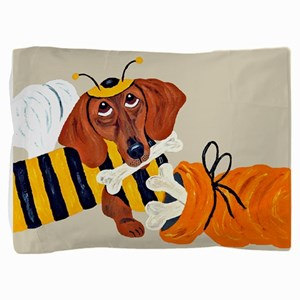 Dachshund Trick Or Treat Bee Pillow Sham