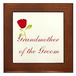 Red Groom's Grandmother Framed Tile
