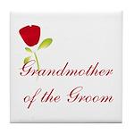 Red Groom's Grandmother Tile Coaster