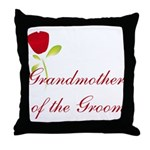Red Groom's Grandmother Throw Pillow