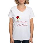 Red Groom's Grandmother Women's V-Neck T-Shirt