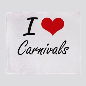 I love Carnivals Artistic Design Throw Blanket