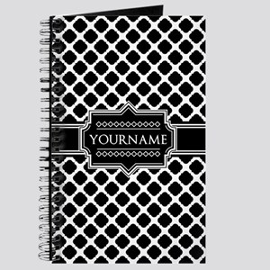Personalized Quatrefoil in Black and White Journal