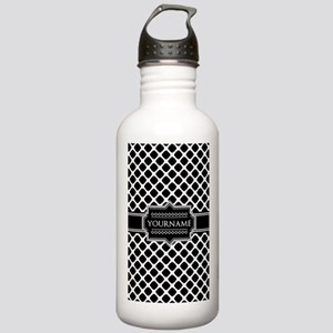 Personalized Quatrefoi Stainless Water Bottle 1.0L