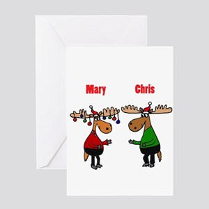 funny christmas moose greeting cards