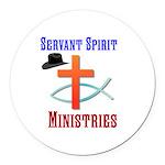 Servant Spirit Ministries Round Car Magnet
